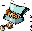 box of doughnuts Vector Clip Art image