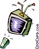 TV and remote Vector Clip Art picture