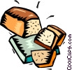 loaf of bread with slices Vector Clipart illustration