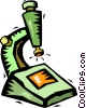 Vector Clip Art image  of a microscope