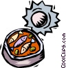 Vector Clip Art image  of a can of sardines