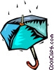 Vector Clip Art picture  of a rain on an umbrella