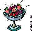 Vector Clipart image  of a bowl of fruit