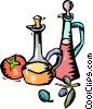 two wine decanters Vector Clipart illustration