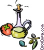 Vector Clip Art image  of a wine decanter