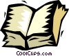 open book Vector Clipart picture