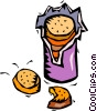 bag of cookies Vector Clip Art picture