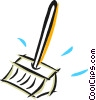 Vector Clip Art graphic  of a shovels