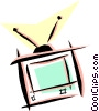 television with rabbit ears Vector Clipart illustration