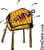 Vector Clip Art graphic  of a bar-b-que