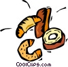 croissants, doughnuts and baked goods Vector Clipart image