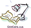 table lamp over a book Vector Clipart picture