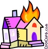 House on fire Vector Clipart image