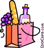 Vector Clipart picture  of a bag with wine