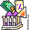 Vector Clipart graphic  of a investing your money