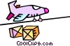 airplane shipping boxes Vector Clipart image