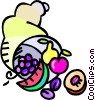 cornucopia Vector Clipart graphic