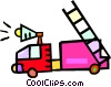 Vector Clip Art picture  of a fire engine