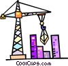 Vector Clip Art picture  of a construction crane