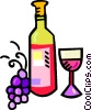 Vector Clipart image  of a wine bottle