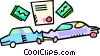 Vector Clipart picture  of a car accident