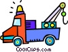 tow truck Vector Clipart graphic