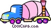Vector Clipart graphic  of a cement trucks