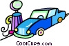 car getting gas at the service station Vector Clip Art picture