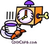 Vector Clip Art picture  of a coffee break