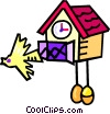 Vector Clipart graphic  of a coo coo clocks