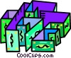 Vector Clip Art image  of a money maze