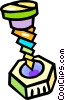 Vector Clipart graphic  of a nut and screw