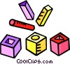 putting pegs in the proper holes Vector Clipart picture