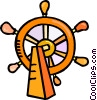 Vector Clipart picture  of a helm of the ship