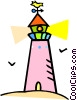 lighthouse Vector Clip Art graphic