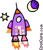 Vector Clipart image  of a rocket ship
