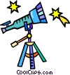 telescope Vector Clipart illustration