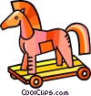 Vector Clip Art graphic  of a wooden horse