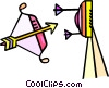 Vector Clipart image  of an archery