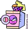 Vector Clipart picture  of a laundry machines