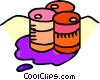oil barrels Vector Clip Art picture