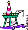 offshore oil rig Vector Clipart illustration