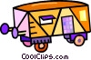 Vector Clipart illustration  of a railcar