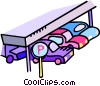 parking garage Vector Clipart graphic