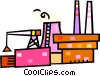 Vector Clip Art picture  of a construction sites