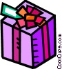 Christmas or birthday present Vector Clip Art picture