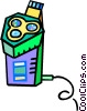 Vector Clipart graphic  of a electric razor