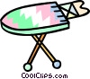 Vector Clipart graphic  of a ironing board