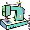 sewing machines Vector Clipart graphic