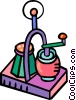 Vector Clipart illustration  of a salt shaker and pepper mill